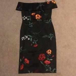 Calvin Klein Floral off shoulder dress
